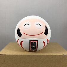 "Japanese 2.25""H Clay White Daruma Doll for Good Luck & LONG LIFE Made in Japan"