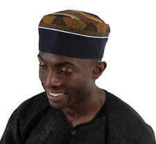 Kente Kufi Hat Style #4 : Men Cap fabric cap Kufi cap multicolor kente material