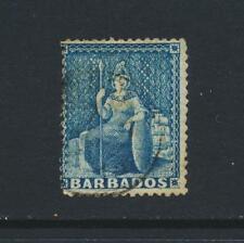BARBADOS 1861, 1d PALE BLUE, VF USED SG#18 CAT£85 (SEE BELOW)
