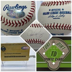 ALEX RODRIGUEZ Autographed Baseball Steiner Authenticated