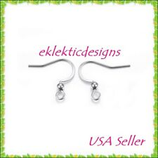 10pcs 16mm 304 Stainless Steel French Hook w/Bead Wire Earrings Jewelry Findings