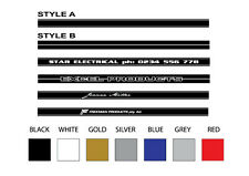 Gt Stripe Personalized with Text, Name, Company Name or Logo Set of 2 NEW