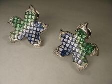 Fabulous 18K Designer White Gold Star Fish Starfish Diamond Sapphire Ring