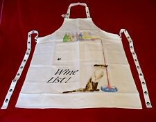 ' Wine List ' Cat Design 100% Cotton Apron Vet Cattery Mum Dad Christmas Gift