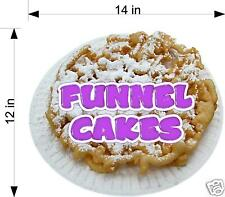 """Funnel Cake Cakes Concession Trailer Food Truck Vinyl Sticker Decal 14"""""""