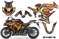 Amr Racing Graphic Kit Wrap Kawasaki ZX1000 Ninja Street Bike Decals 00-13 FIRE