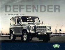 Land Rover Defender 2008-09 UK Market Guide Sales Brochure 90 110 130