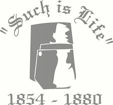 """Ned Kelly Helmet """"Such Is Life"""", Car, Ute, Truck Sticker Decal, 205 x 190mm"""