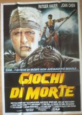 The Blood of Heroes- Original Italian Poster - Giochi di Morte 1990