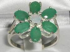 Emerald Cluster Natural Fine Rings