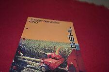 Gehl 750 Forage Harvester Dealers Brochure DCPA 4162