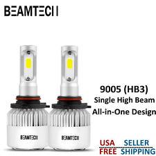 BEAMTECH 9005 HB3 LED Headlights Bulbs Kit High Beams 72W 8000LM 6000K White COB