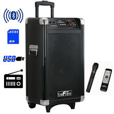 BEFREE SOUND PROFESSIONAL BLUETOOTH DJ PA PARTY SPEAKER with REMOTE MIC USB SD