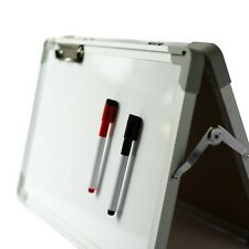 IbexStationers Small Dry Erase Board, Tabletop Easel Whiteboard, Double Sided