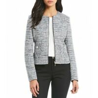 karl lagerfeld paris Tweed Fringe Jacket Blazer 290$ Size 10