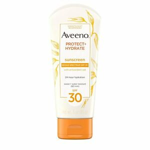Aveeno Protect + Hydrate Sunscreen Lotion Broad Spectrum SPF 30 - 3 oz, SPF30