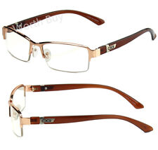 New Mens Womens DG Clear Lens Frame Glasses Designer Fashion Optical RX Half Rim