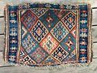 Antique Kurdish Jaff Bag Face Rug - Wool 19th Century