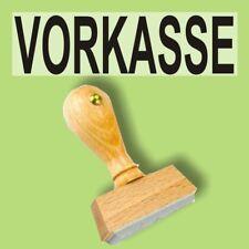 VORKASSE - Holzstempel 10 x 35mm Büro Stempel