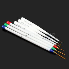 6tlg UV Acryl Gel Spitzpinsel Striper Pinsel Nail Art Nagelart Nylon Maniküre