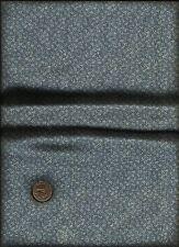 Nice Very Tiny Tossed Fern Leaf & Micro Dots Print cream on lt dusty blue Fabric