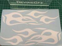 2x Flame Decal Vinyl Sticker Car Window Wall Logo fire