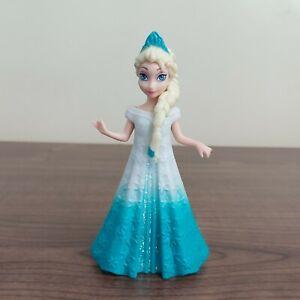 """Mattel 4"""" Disney Princess Queen Elsa Frozen Magiclip Magic Clip Doll And Dress"""