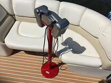 Mark II Drive-In Movie Speaker Set + Round Red Powder Coated Metal Pole & Base