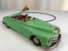"Vintage Toy Car Remote Hand Crank Controlled West Germany 10"" Crank Works Green"