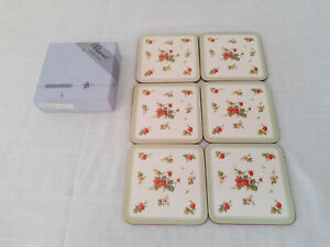 Set of 6 Strawberry Fruit Coasters Acrylic Coasters