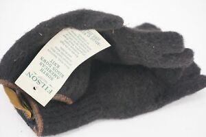 NEW WITH TAGS | $125 FILSON BISON WOOL FINGERLESS GLOVES BLACK