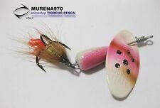 CUCCHIAINO MARTIN 6 gr COLORE BIANCO-ROSA CON FIOCCO PESCA- MP151