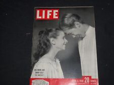 1950 APRIL 3 LIFE MAGAZINE - IRIS MANN AND DAVID COLE ON BROADWAY - L 696