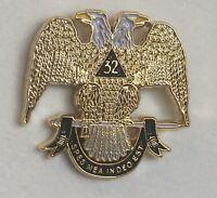 Masonic Scottish Rite Southern 32 Lapel Pin Large Rare