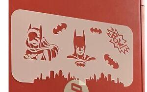 Batman / Batgirl  Reusable Stencil Face Painting/AirbrushTattoo Free UkPostage