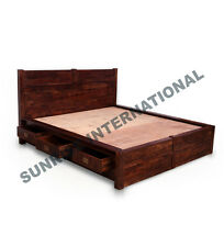 Wooden Indian King Size Double Bed with 6 storage drawers !!