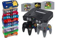 Nintendo 64 / N64 Konsole + 1 2 3 4 Controller, Kabel, Strom & Spiel-Klassiker
