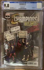 Champions Outlawed # 2 Hetrick Variant 1:25 Cover Marvel CGC 9.8. The Only One!