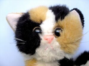 """Tyco Kitty Kitty Kittens Patches PURRS Calico Cat Plush Toy Rattle  7"""""""
