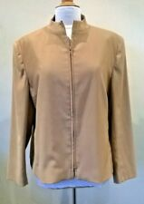 Ladies light brown Size 18/44 front zipped jacket/blazer