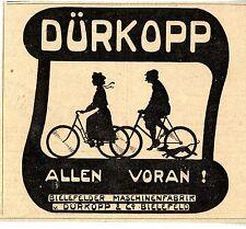 ALLEN VORAN! Bielefelder Maschinenfabrik v.Dürkopp Historische Annonce 1902