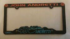 NASCAR John Andretti #43 STP & Cheerios Racing Vintage License Plate & Tag Frame