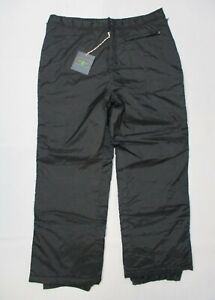 Men's SPLITRIAL Black Insulated Snowboard Snow Pants Full Zip Sides Size 2XL NWT