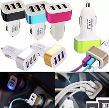 Nuevo Multi 3 puertos USB Cargador de coche 5V 2.1A Para Iphone Ipad Galaxy Lg Htc Reino Unido un