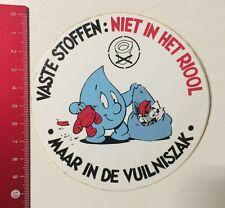 Aufkleber/Sticker: Vaste Stoffen: Niet In Het Riool Maar / Vuilniszak(090616184)