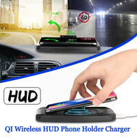 Qi Sans Fil Chargeur Voiture Support HUD Head Up Navigation Téléphone GPS ! * *