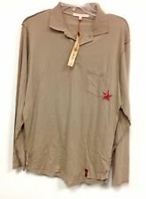 New NWT Men's Nordstrom Designer People's Liberation Beige Collared Shirt