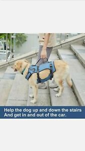 Blue - COODEO Dog Lift Vest Harness, Full Body Support & Recovery Sling XXL