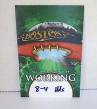 BOSTON band authentic concert tour backstage pass 40th Anniversary collectible