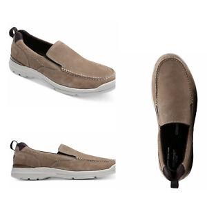 Rockport City Edge Slip ON's Men's Taupe Loafer Size 10 NWT